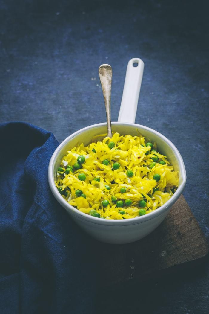 Cabbage Peas Poriyal Recipe image