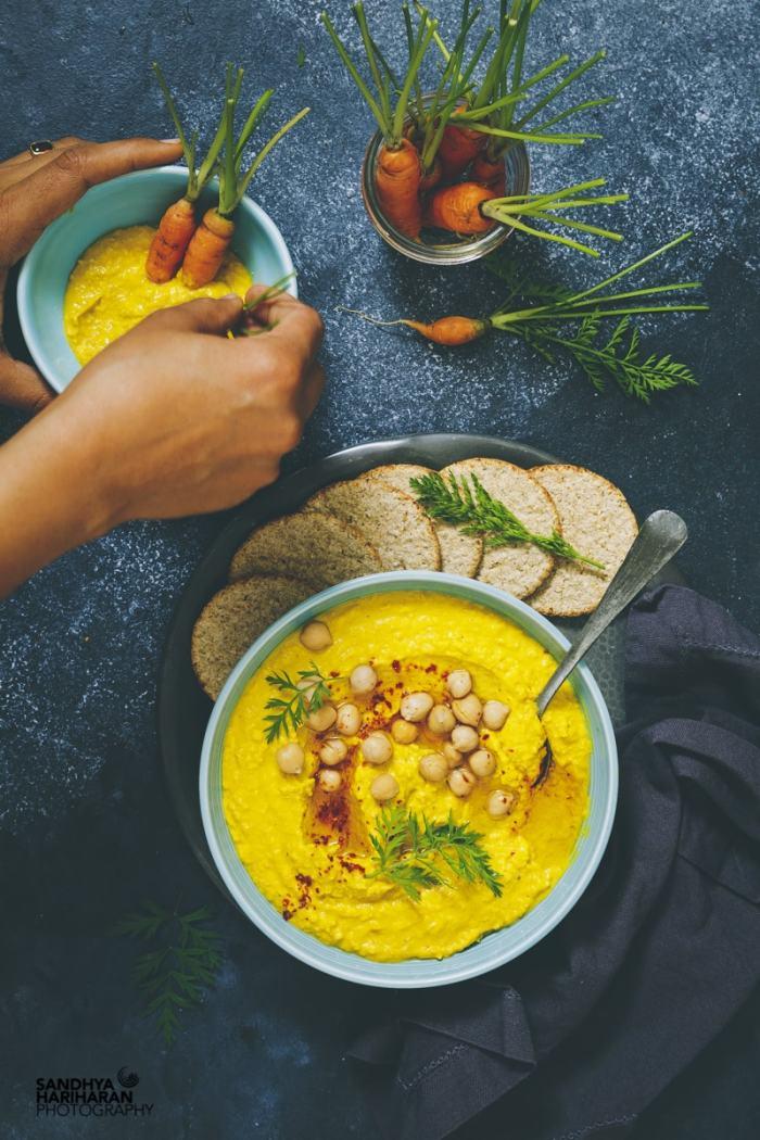 turmeric hummus recipe image