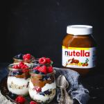 Nutella Bircher Muesli Yogurt Parfait
