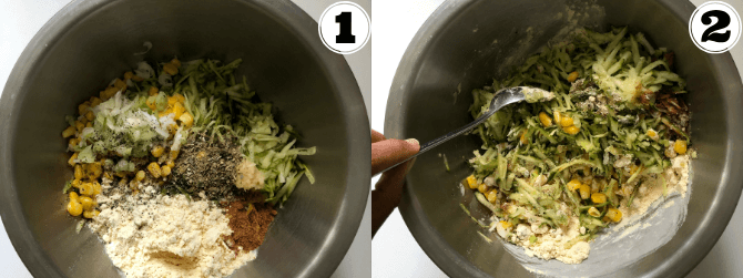 Zucchini Fritters Step by Step