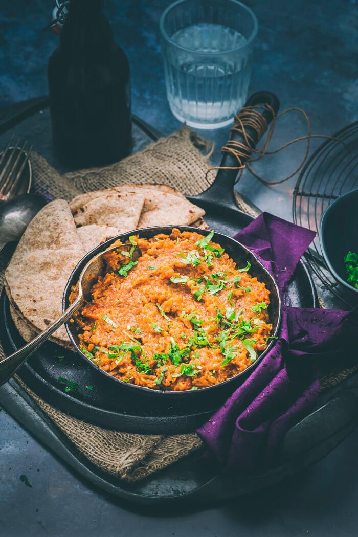 Roasted Eggplant mash - How to make Baingan ka Bharta?