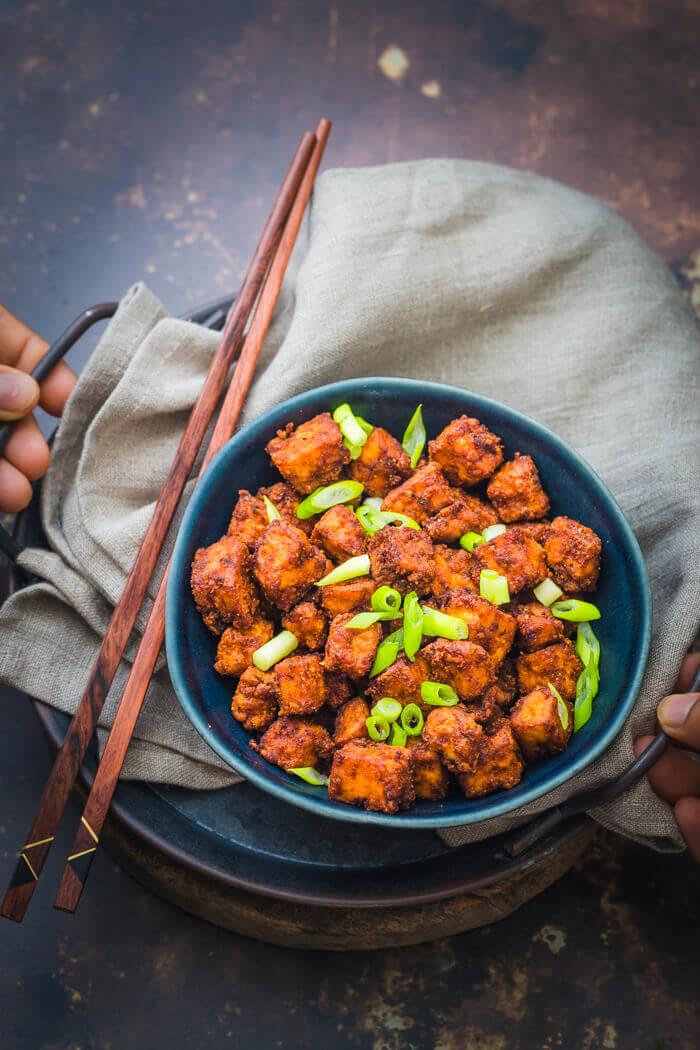 airfryer crispy tofu