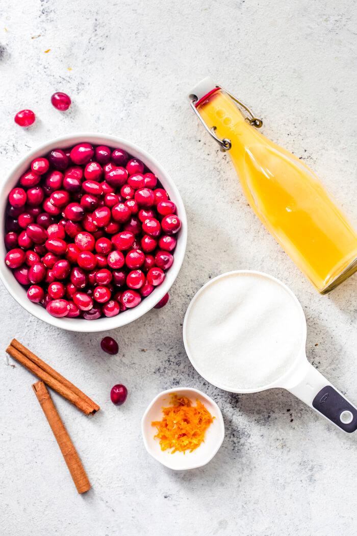 Christmas Cranberry Sauce ingredients