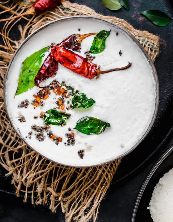 White coconut chutney image