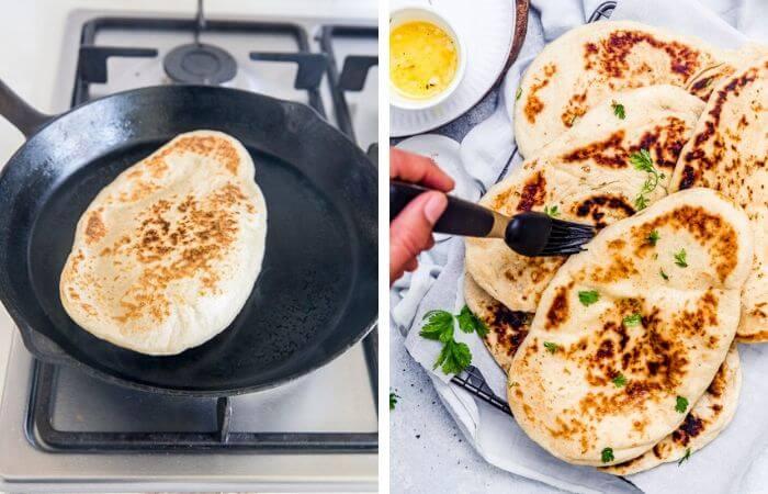easy skillet naan bread recipe image