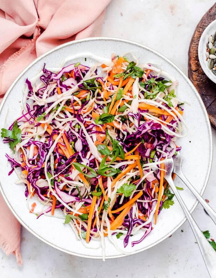 easy no mayo coleslaw recipe image