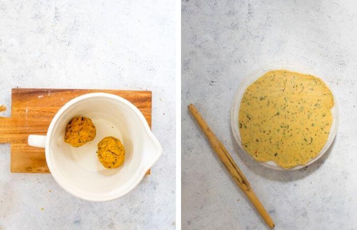 roll the mathri dough