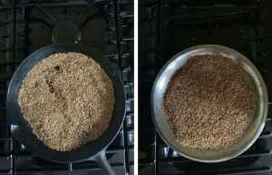 Cooling Roasted Cumin in plate