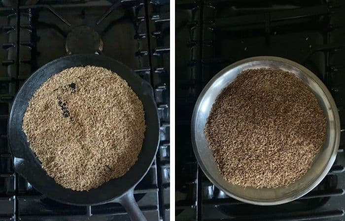 Cooling Roasted seeds in plate