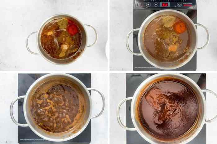 Step by Step method to make homemade sauce with tamarind