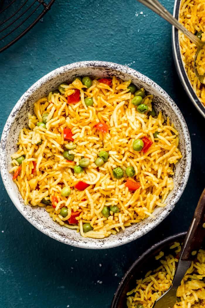 homemade nando's spicy rice bowl