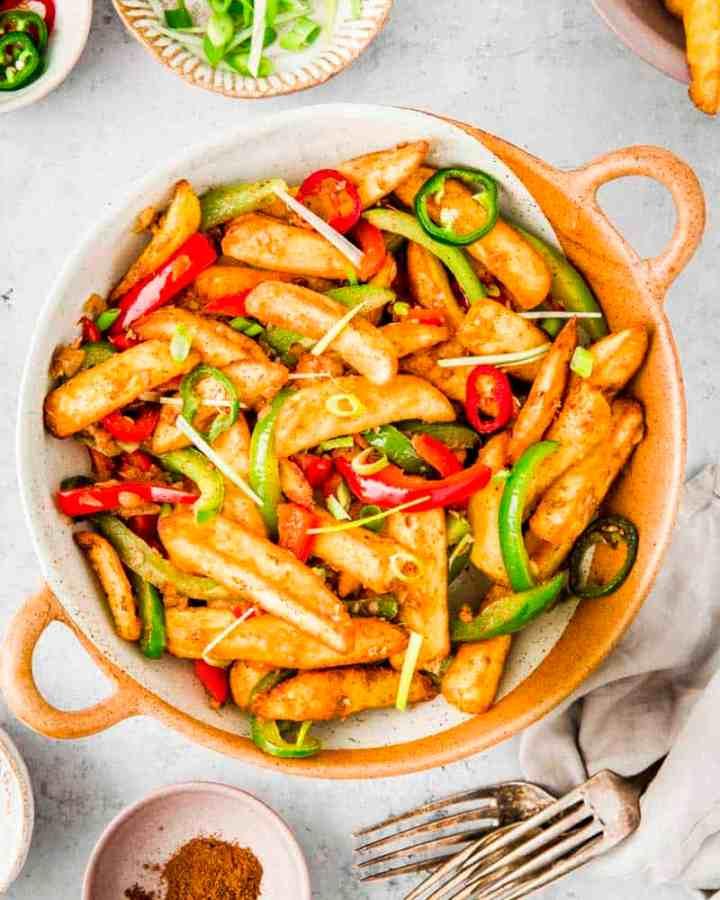 salt & pepper chips recipe