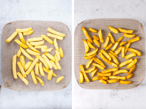 oven cooked frozen chunky chips