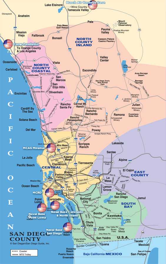 San Diego Naval Base Map : diego, naval, Diego, Military, Bases,, Museums,, Relocation, Retirement
