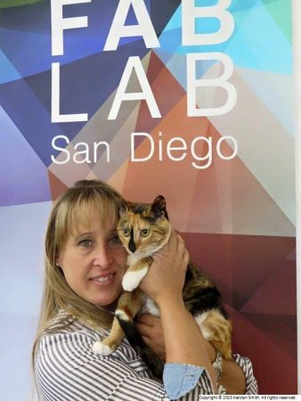 Sophia and Karolyn - Bionic Cat at Fab Lab