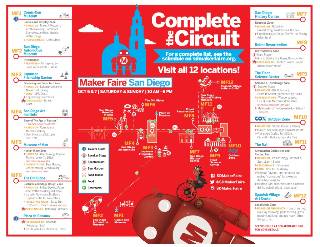 Maker Faire San Diego Map 2018