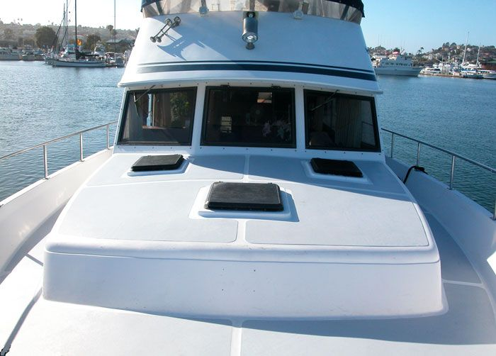 There is plenty of seating on the front of the yacht for your group. Soak in the sun.