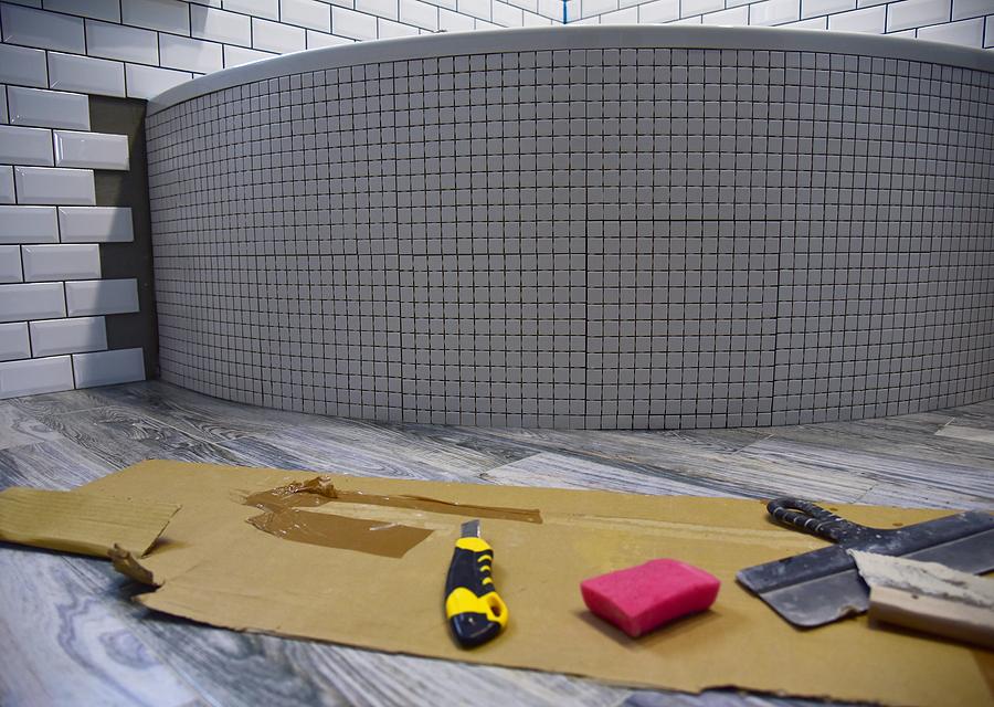 floor tile installation kitchen