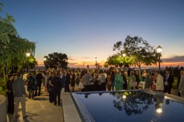 Cocktail hour during our 2016 Gala at the Joan B. Kroc Institute for Peace and Justice at University of San Diego.