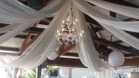Bali Hai San Diego Ceiling Draping and Chandelier