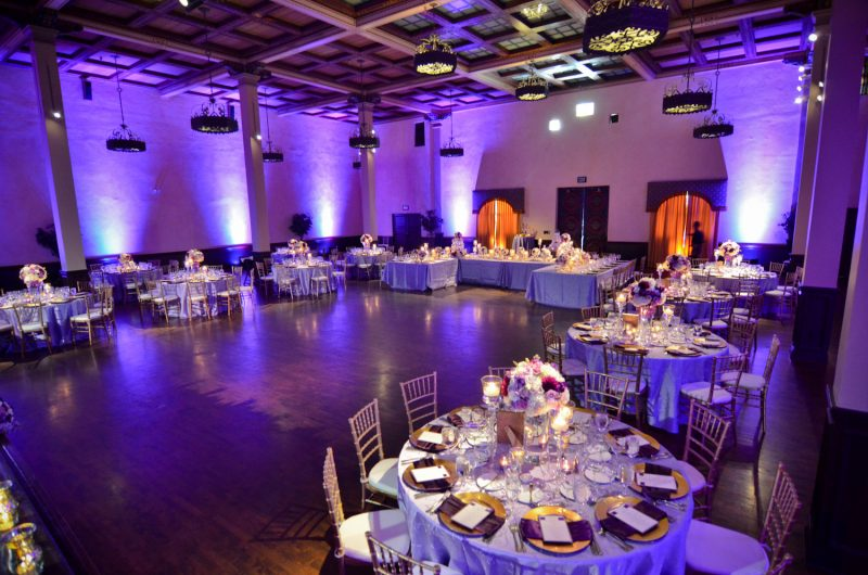San Diego Wedding Lighting, The Prado Grand Ballroom Lights