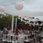 San Diego Japanese Friendship Garden Wedding Lighting and Draping