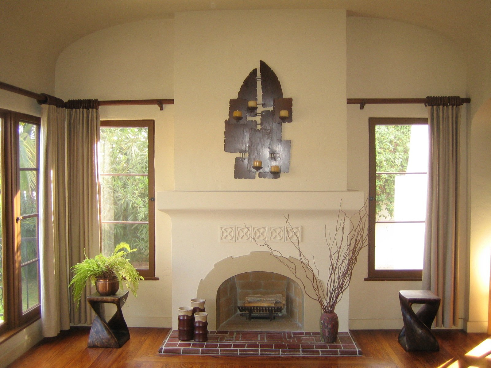 Image Result For Spanish Style Large White Stucco Fireplace Mi Casita On Pinterest | Stucco Fireplace, Mexican Folk