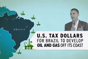A screenshot from a State Government Leadership Foundation ad targeting President Obama's energy policies. Propublica.org