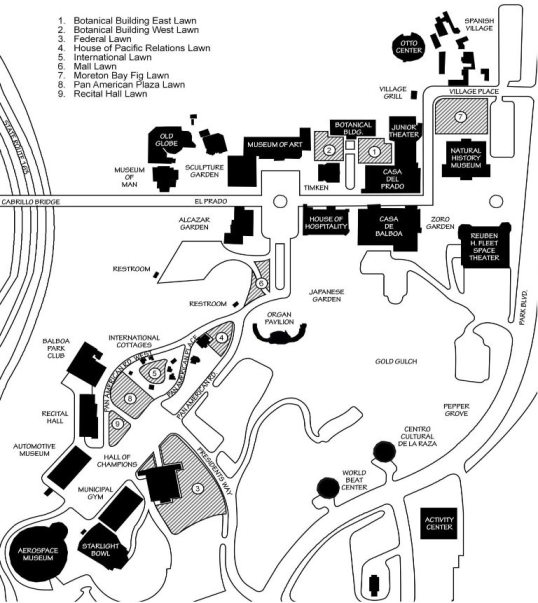 Balboa Park Map re alc-areas