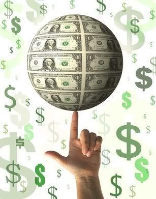 MoneyGlobeOnFinger