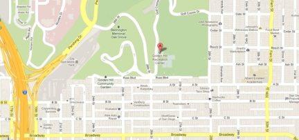 Golden Hill RecCtr map