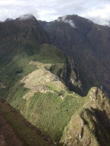 View of Machu Picchu from Huayna Picchu.