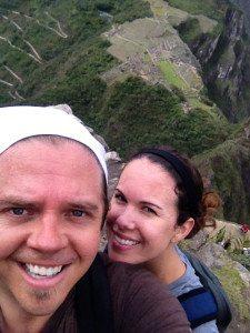 Jenny and I atop Huayna Picchu.