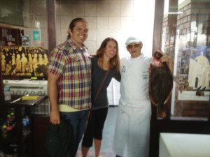 Chef Javier Wong, Jenny and I.