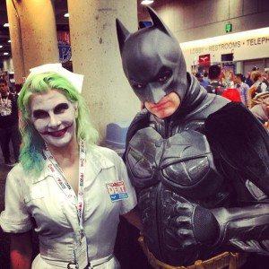 SDCC Lady Joker and Batman