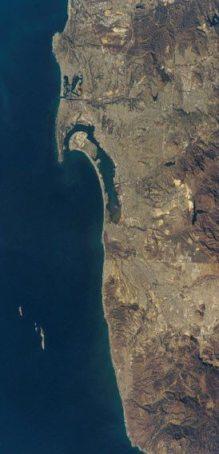 San Diego coast satellite