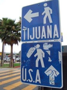 Pedestrian_border_crossing_sign_Tijuana_Mexico