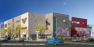An artist's rendering of the Chávez Campus.