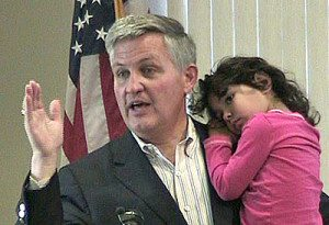 Dave Roberts with Daughter Natalie Source: Escondido Democratic Club