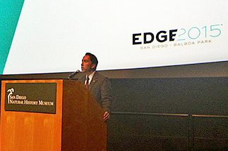 Todd Gloria hyping the event in this City of San Diego photo