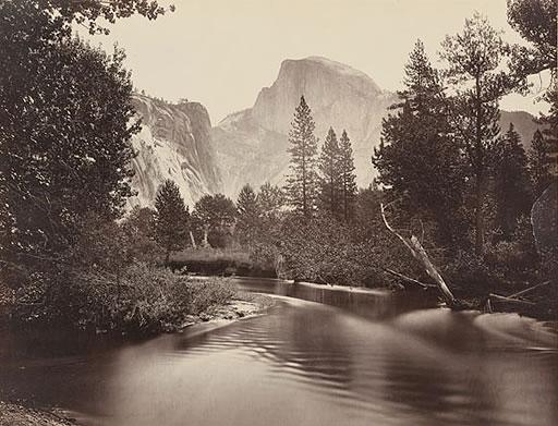 Merced River and Half Dome, Yosemite National Park, circa 1865, Carleton Watkins photograph