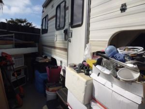 door to trailer