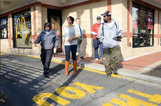 Fast food worker strike in Wheaton, Maryland