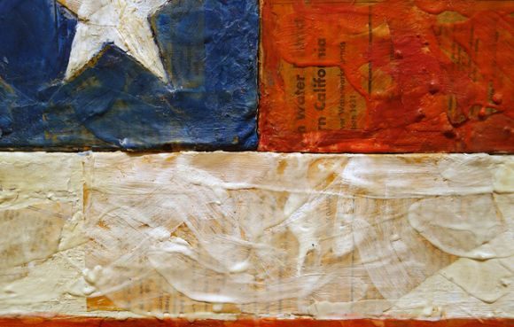 Detail Flag by Jasper Johns