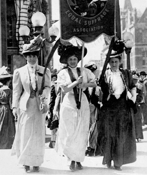 California Suffragist marchers, 1910