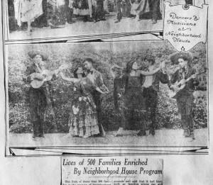 Neighborhood House dancers and musicians