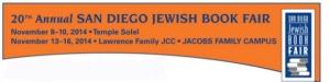 San Diego Jewish Book Fair banner