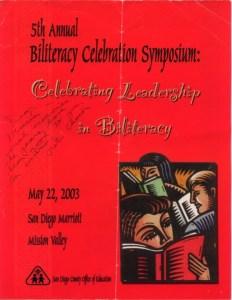 5th Annual Biliteracy Conference program
