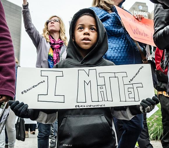 Young Ferguson protester, October 11, 2014