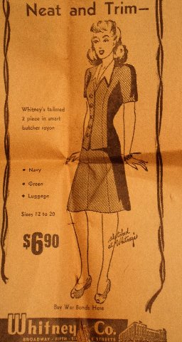 Whitney's dress ad